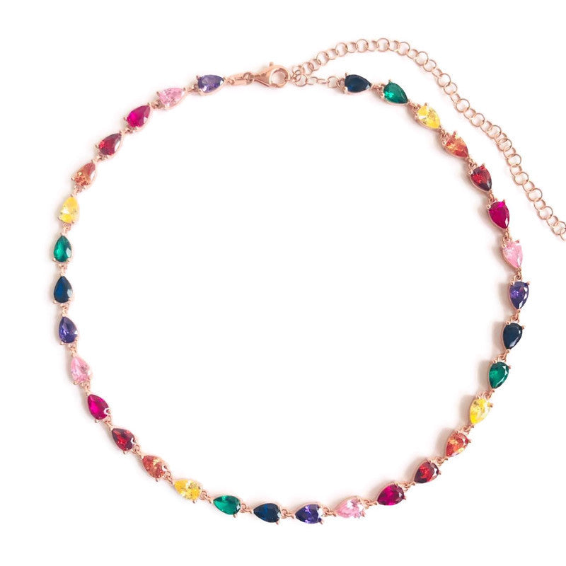 Chato Rainbow Tears Choker