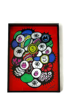 Load image into Gallery viewer, Sara Nimer Token Red Tray Small - Black