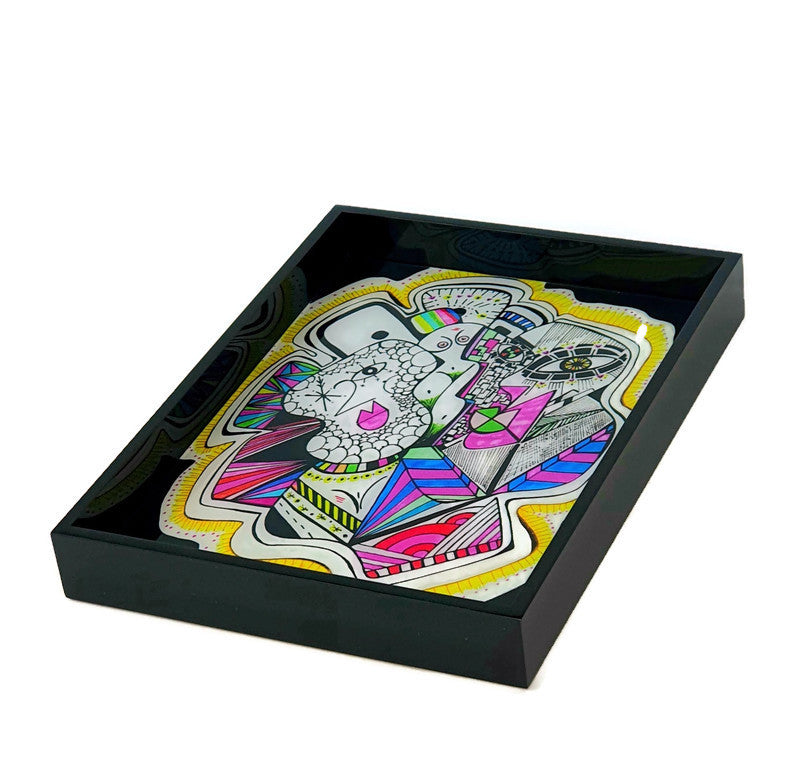 Sara Nimer Self Portrait 2020 Tray Small - Black