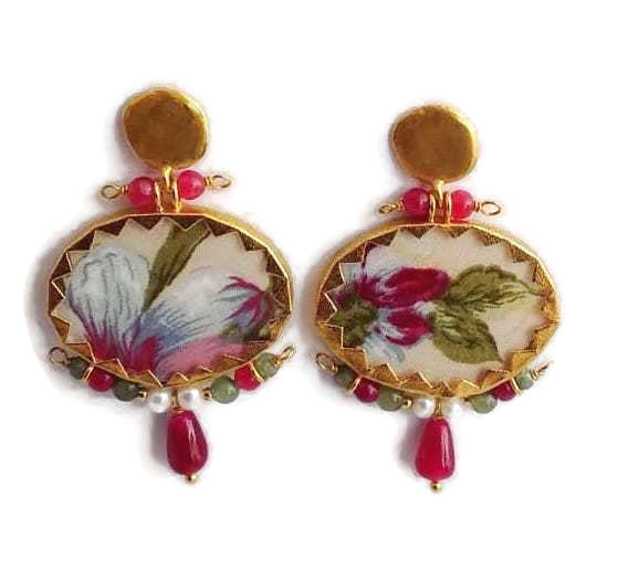Nounzein Brocart Earrings - Small