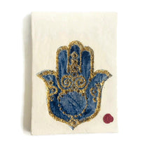 Load image into Gallery viewer, Fatma Hand Wall Hanging - Blue & Gold