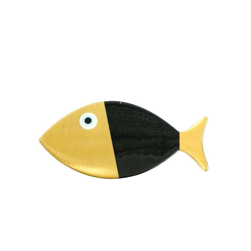 Fish Wall Hanging XL - Black & Gold