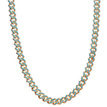 Load image into Gallery viewer, Crystal Haze Mexican Chain Necklace - Mykonos Blue
