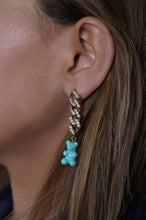 Load image into Gallery viewer, Crystal Haze Nostalgia Bear Earring - Mykonos Blue