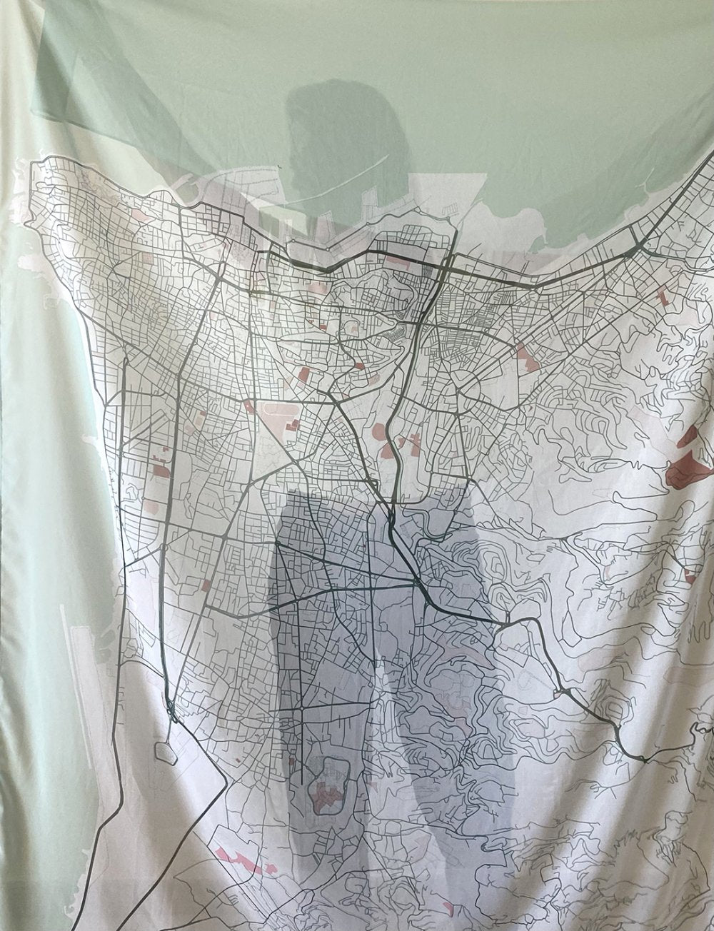 Canava Design Beirut Map Scarf - Coloured