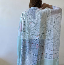 Load image into Gallery viewer, Canava Design Beirut Map Scarf - Coloured