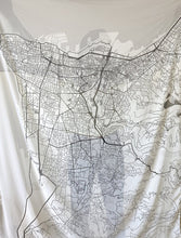 Load image into Gallery viewer, Canava Design Beirut Map Scarf - Grey