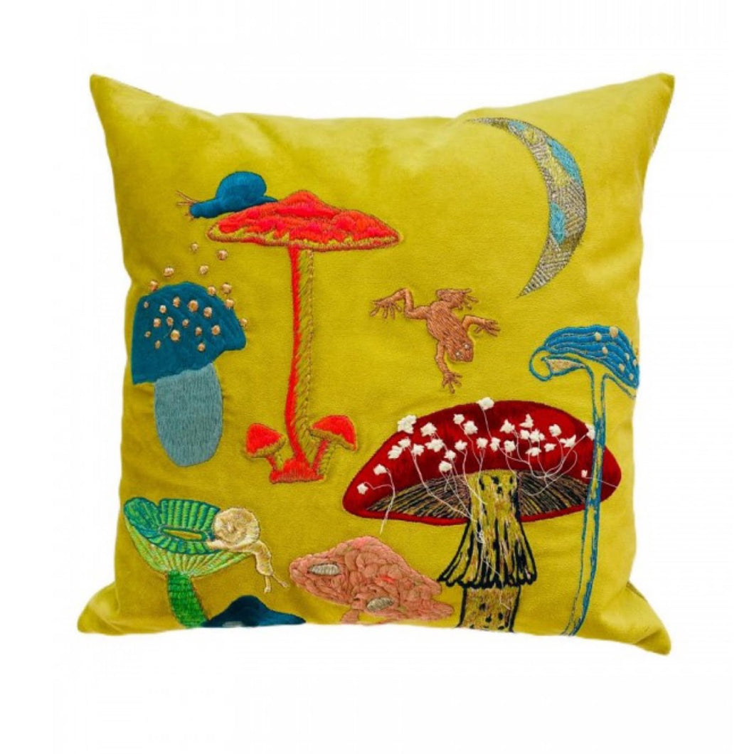 Bokja Mushrooms Cushion - Yellow
