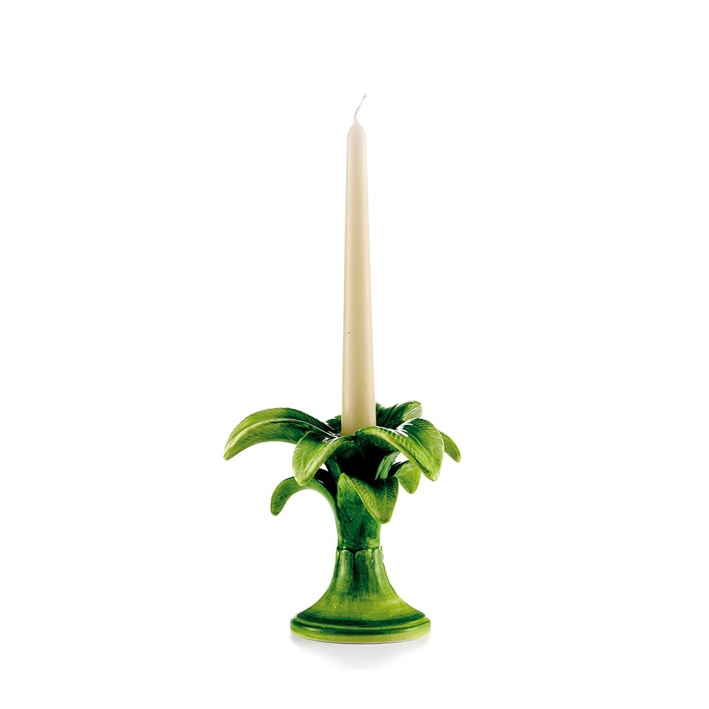 Les Ottomans Palm Tree Candle Holder Small - Green