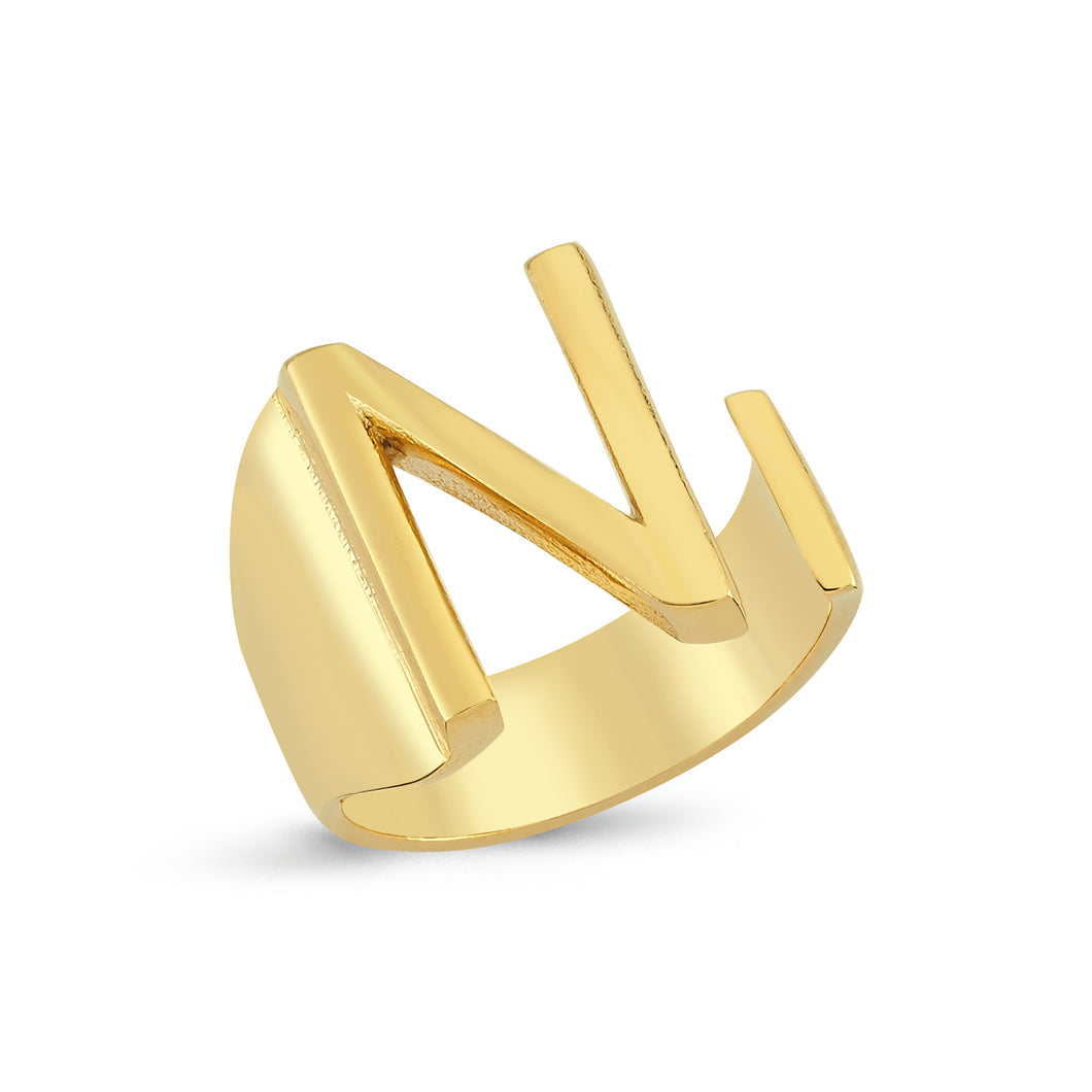 Sup Others Letter Ring - N