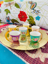 Load image into Gallery viewer, Roses Arabic Coffee Cups Set of 6 - Multicolor