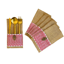 Load image into Gallery viewer, Tatreez Embroidered Cutlery Pouch - Set of 12