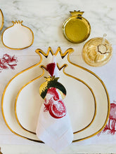 Load image into Gallery viewer, Pomegranate Plate White - M