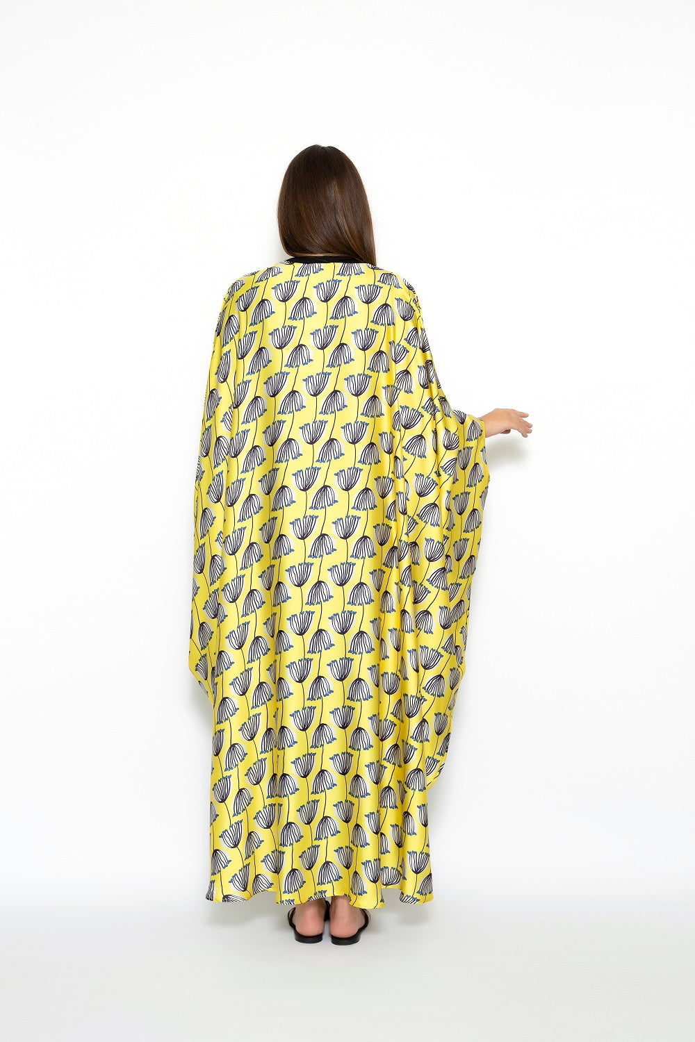 TET Yellow Flowers Pattern Downtown Kaftan