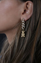 Load image into Gallery viewer, Crystal Haze Nostalgia Bear Earring - Salt Caramel