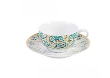 Load image into Gallery viewer, Silsal Mirrors Porcelain Tea Cup - Emerald