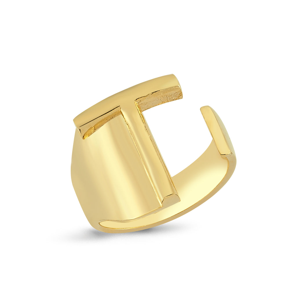 Sup Others Letter Ring - T