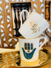 Load image into Gallery viewer, Fatma Hand Coffee Cup with Brass
