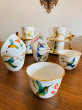 Load image into Gallery viewer, Birds of Paradise Arabic Coffee Cups- Set of 6