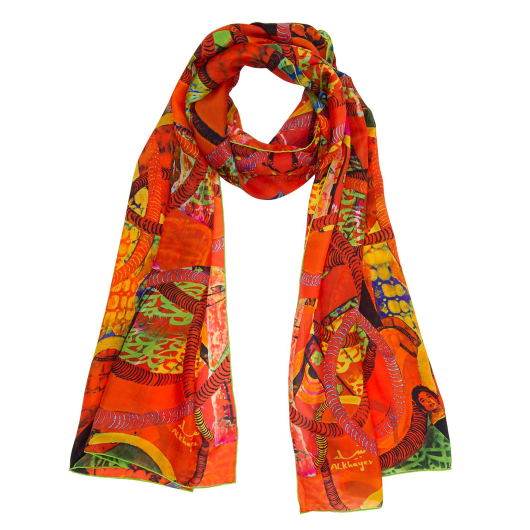 Annada Leading Ladies Long Silk Scarf