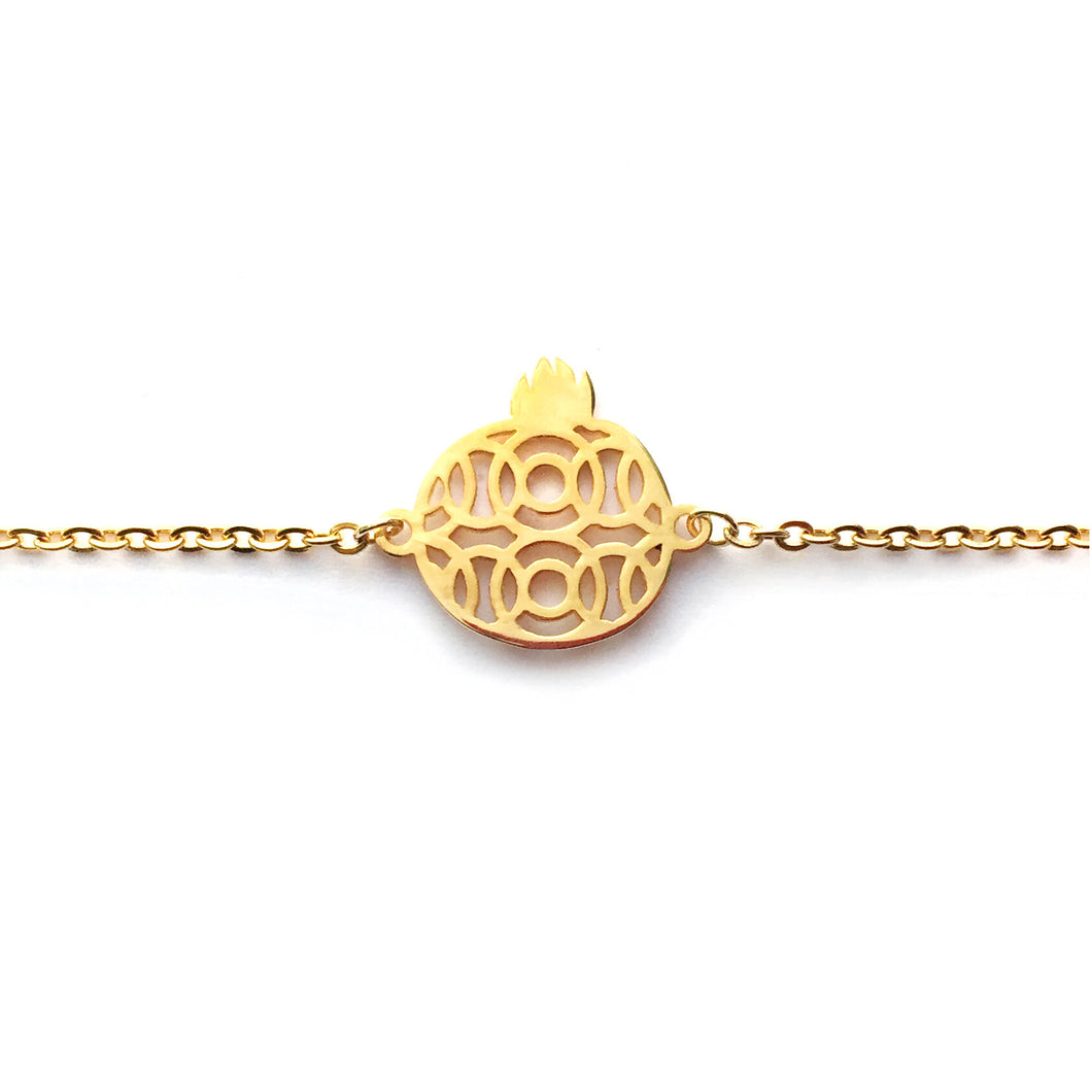 Narinee Pomegranate Charm Bracelet - Gold