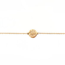 Load image into Gallery viewer, Narinee Rosette Charm Bracelet - Gold
