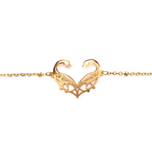 Load image into Gallery viewer, Narinee Love Birds Charm Bracelet - Gold