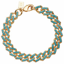 Load image into Gallery viewer, Crystal Haze Mexican Chain Bracelet - Mykonos Blue