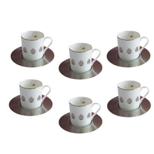 Load image into Gallery viewer, Zarina Pomegranate Espresso Cup & Saucer - Set of 6 - Platinum