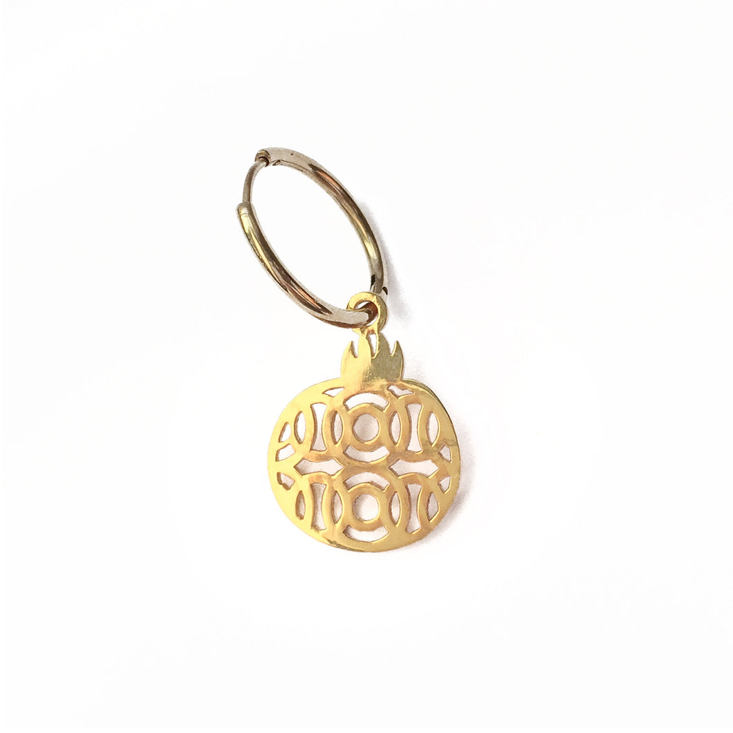 Narinee Pomegranate Hoop Earring - Gold