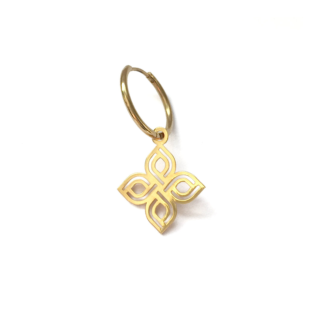 Narinee Sevan Clover Hoop Earring - Rose Gold