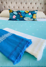 Load image into Gallery viewer, Kashmir Wool Hand Embroidered Blanket - Mint