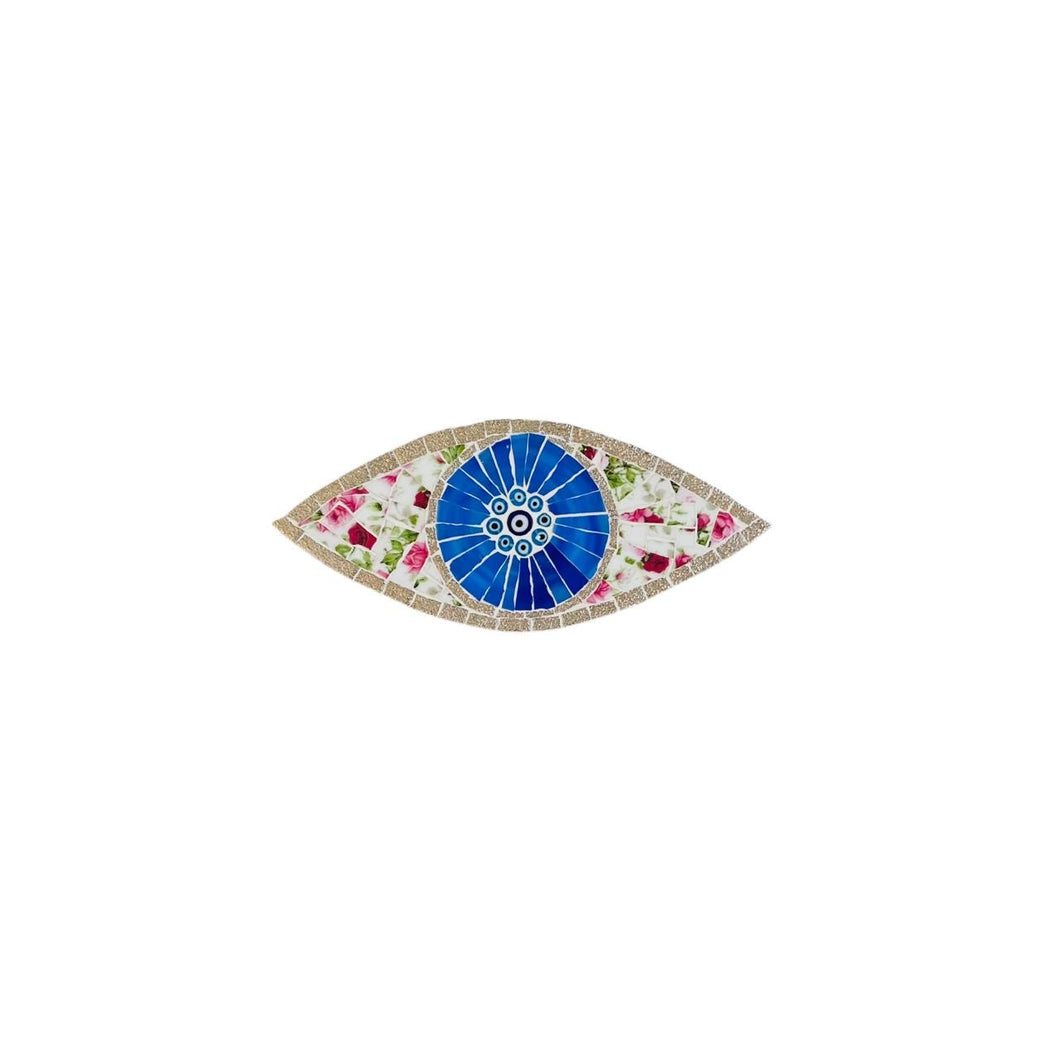 Eye Mosaic Charm - Oval
