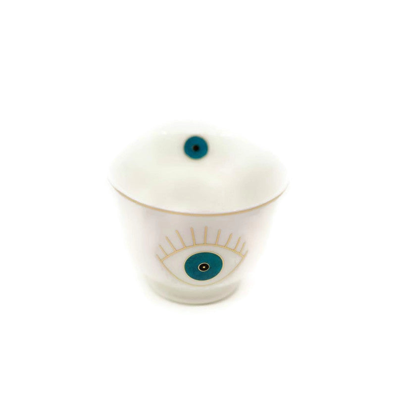 Zarina Evil Eye Blue Chaffe Cups - Set of 6