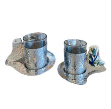 Load image into Gallery viewer, Tes cups Silver with ichani handle bird shaped set of 6pcs