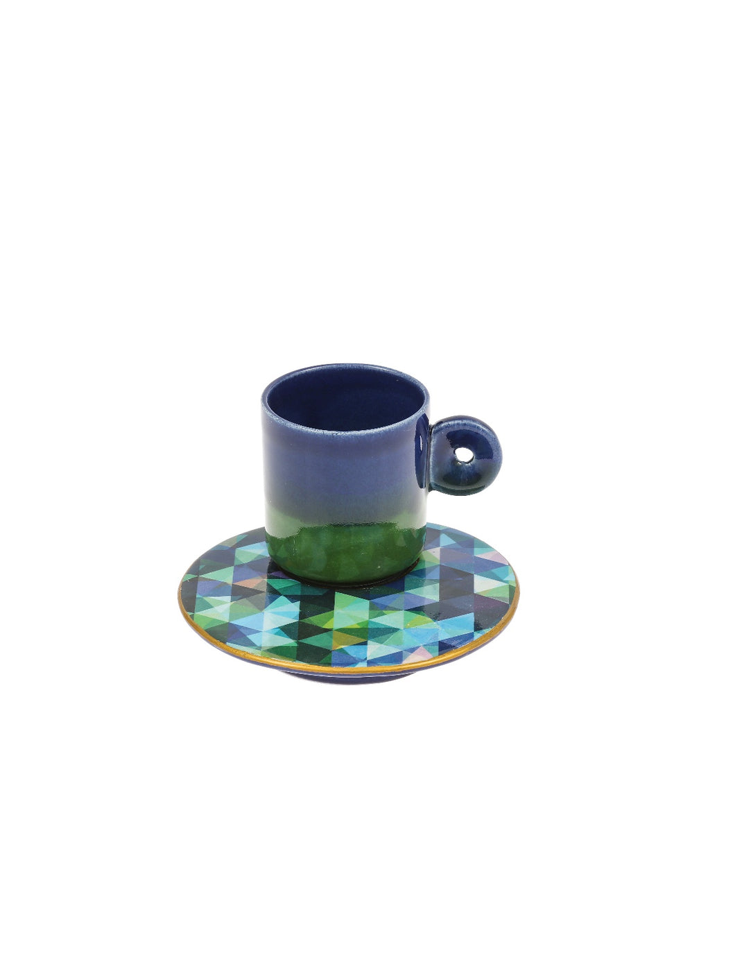 Colourful Coffee Cup ceramic- Pixel