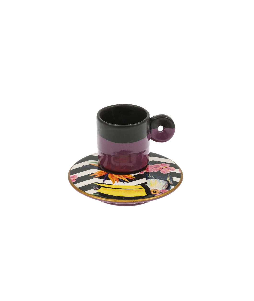 Colourful Coffee Cup ceramic- Toucan Lilac