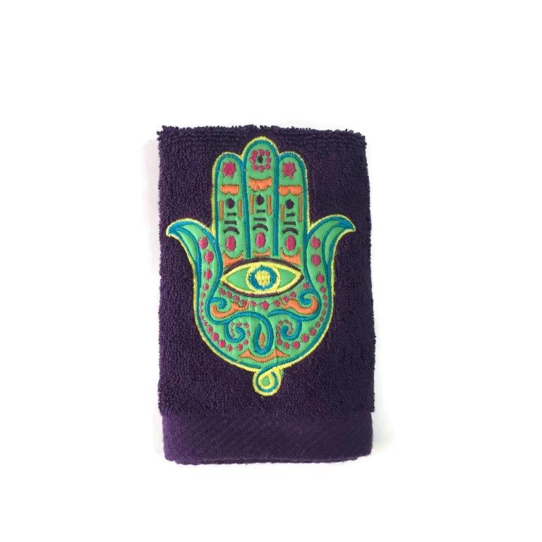 Hand towel Zaghrafa colored - Purple