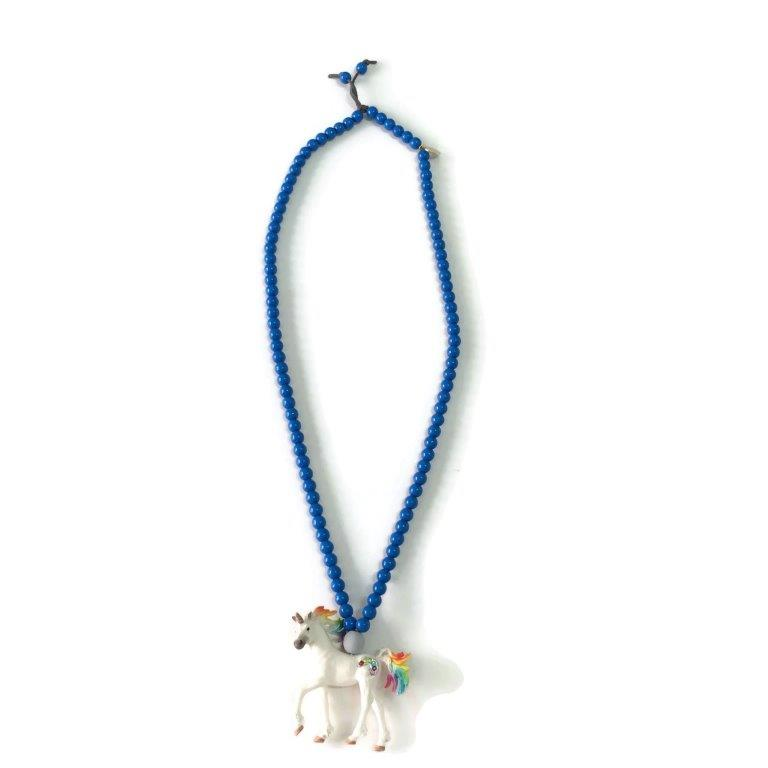 Unicorn Necklace -Blue