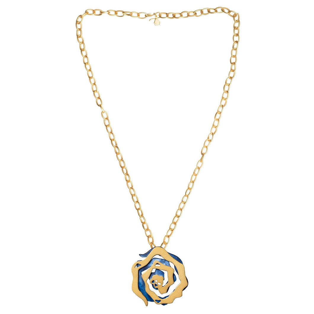 Jude Benhalim Cabbage Necklace - Blue