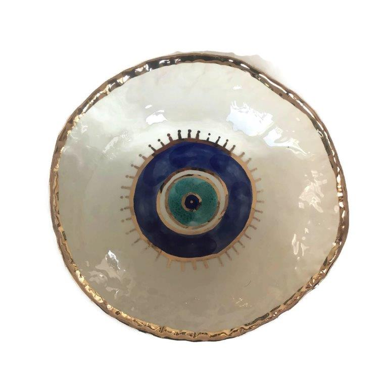 Evil Eye Ceramic Bowl - XL