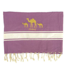 Load image into Gallery viewer, Fouta Towel Camel - Purple