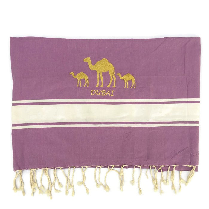 Fouta Towel Camel - Purple
