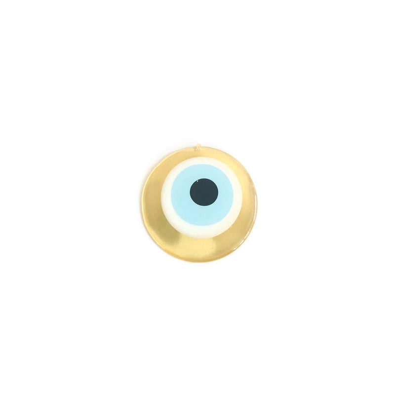 Mati Evil Eye Wall Hanging Medium - Gold & Light Blue