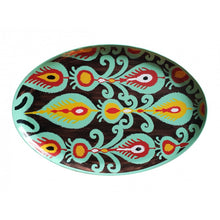 Load image into Gallery viewer, Les Ottomans Oval Painted Iron Tray - Black