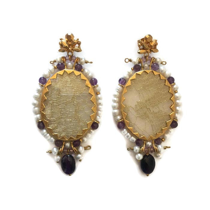 Nounzein Brocart Earrings