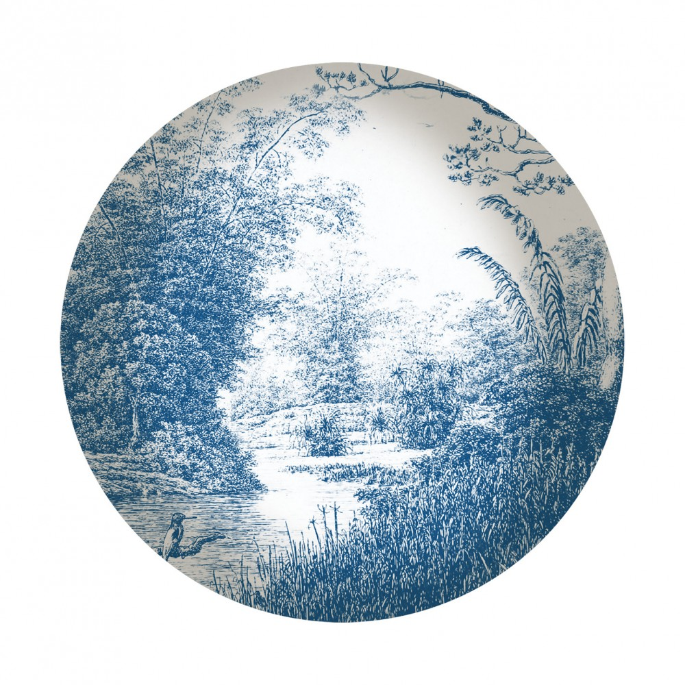 Les Ottomans La Menagerie Porcelain Bowl - Blue