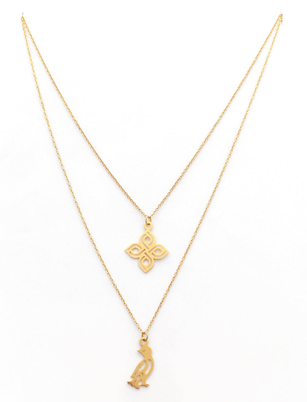 Narinee Gakavig Duo Double Necklace - Gold