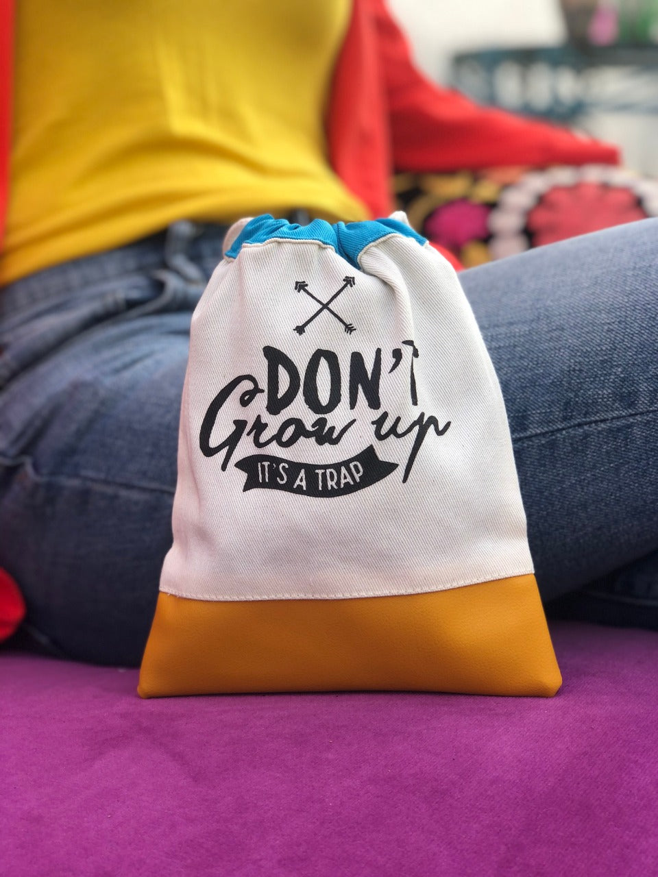Standout Don't Grow Up Pouch - Orange