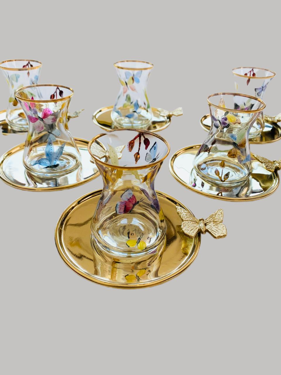 Butterfly Tea Cups with Plate - Set of 6